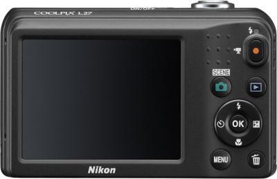 Компактный фотоаппарат Nikon Coolpix L27 Black - вид сзади