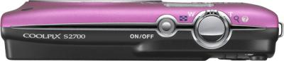 Компактный фотоаппарат Nikon Coolpix S2700 Pink Patterned - вид сверху