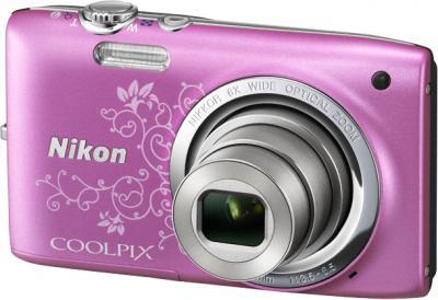 Компактный фотоаппарат Nikon Coolpix S2700 Pink Patterned - общий вид