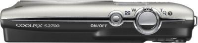 Компактный фотоаппарат Nikon Coolpix S2700 Silver - вид сверху