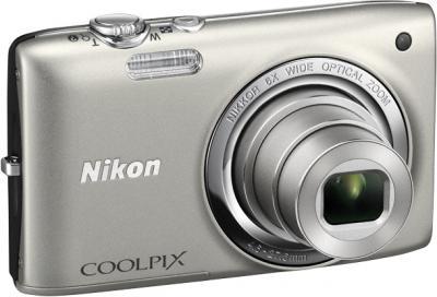 Компактный фотоаппарат Nikon Coolpix S2700 Silver - общий вид