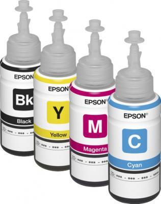 МФУ Epson L210 - контейнеры с чернилами (входят в комплект)