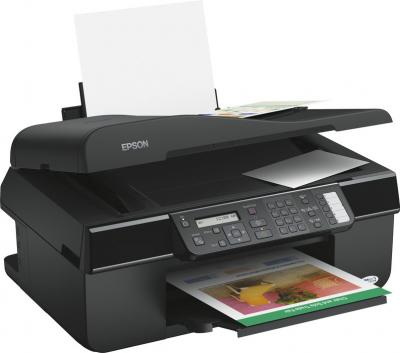 МФУ Epson Stylus Office BX305F - общий вид (открытые лотки)