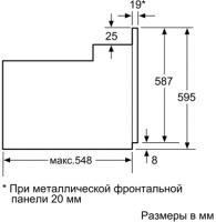 Электрический духовой шкаф Siemens HB36GB650J - схематическое изображение