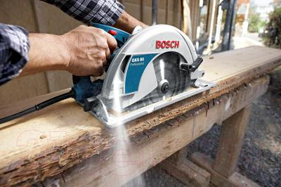 Профессиональная дисковая пила Bosch GKS 85 Professional (0.601.57A.000) - в работе