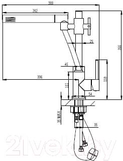 Смеситель Manzzaro Isola 56С.076.00 - схема