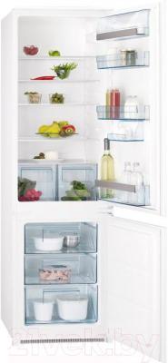 Холодильник с морозильником AEG SCS51800S1