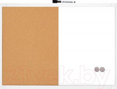 Магнитно-маркерная доска NOBO Quartet Combo Vert 1903784 (585x430)