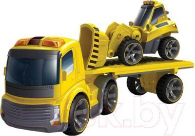 """Радиоуправляемая игрушка Silverlit Мега стройка """"Power in fun"""" 81110 - тягач с бульдозером"""