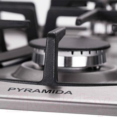 Газовая варочная панель Pyramida PFA 640 Luxe (нержавеющая сталь)