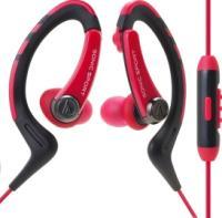 Наушники-гарнитура Audio-Technica ATH-SPORT1iS (красный) -