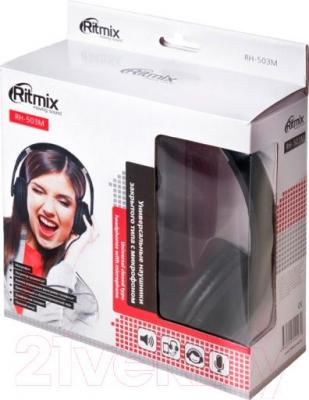 Наушники-гарнитура Ritmix RH-503M