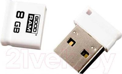 Usb flash накопитель Goodram Piccolo White 8GB (PD8GH2GRPIWR10)