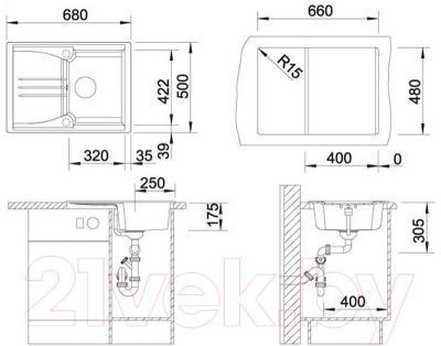 Мойка кухонная Blanco Enos 40S (515080)