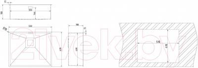 Мойка кухонная Teka Square 50.40 / 40170130