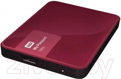 Внешний жесткий диск Western Digital My Passport Ultra 500GB Wild Berry (WDBBRL5000ABY)