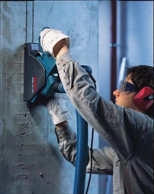 Профессиональный штроборез Bosch GNF 35 CA Professional (0.601.621.708) - в работе