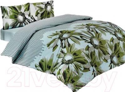Комплект постельного белья Arya Classi Sena (145x210, зеленый)