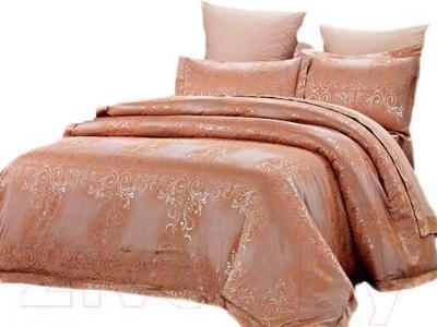 Комплект постельного белья Arya Pure Жаккард Terra (200x220) - общий вид комплекта