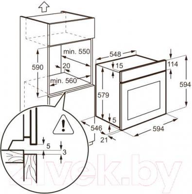 Электрический духовой шкаф AEG BS5836680M