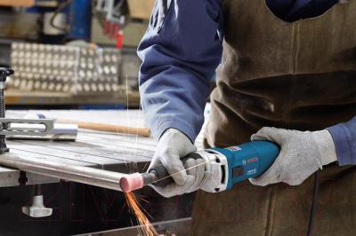 Профессиональная прямая шлифмашина Bosch GGS 8 CE Professional (0.601.222.100) - в работе
