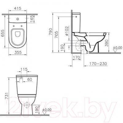 Унитаз напольный VitrA Form 300 (9729B003-7200)