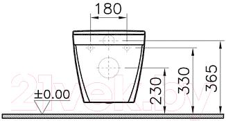 Унитаз подвесной VitrA S50 (7740B003-6039)