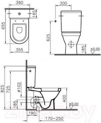 Унитаз напольный VitrA S50 9736B003-7200