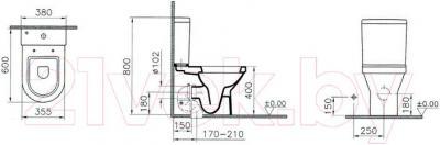 Унитаз напольный VitrA S50 9798B003-0227