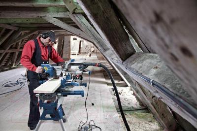 Профессиональная торцовочная пила Bosch GCM 8 SJL Professional (0.601.B19.100) - в работе