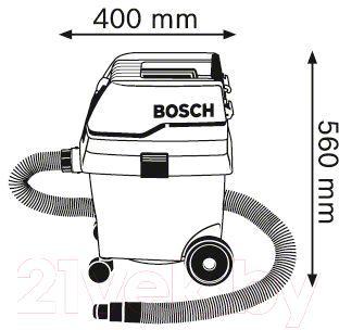Профессиональный пылесос Bosch GAS 25 L SFC (0.601.979.103) - схема