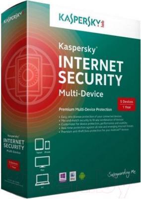 Антивирусное ПО Kaspersky Internet Security 2015 / KL1941OUEFS (на 5 устройств)