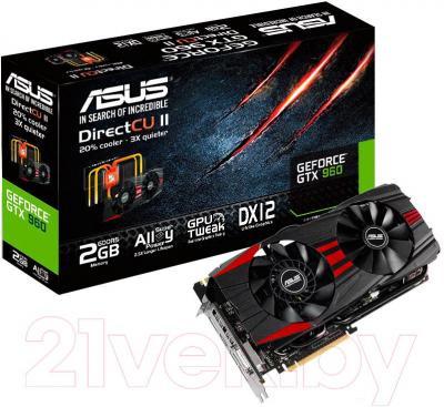 Видеокарта  Asus GeForce GTX 960 2GB GDDR5 (GTX960-DC2OC-2GD5-BLACK)
