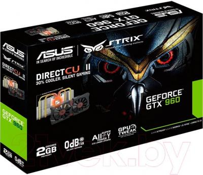 Видеокарта  Asus GeForce GTX 960 2GB GDDR5 (STRIX-GTX960-DC2-4GD5)