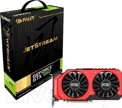 Видеокарта  Palit GeForce GTX 960 JetStream 4GB GDDR5 (NE5X960010G1-2062J)