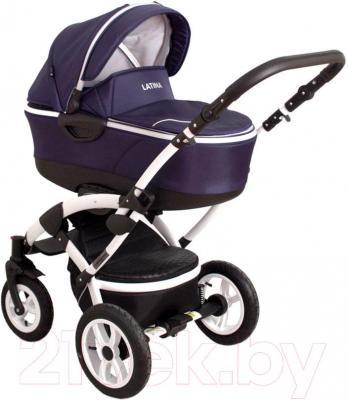 Детская универсальная коляска Coto baby Latina 3в1 (темно-синий)