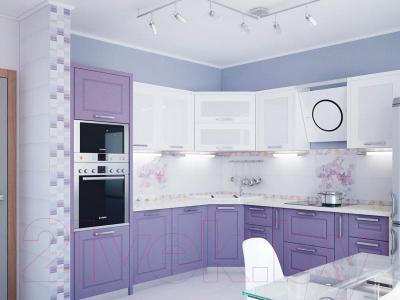 Бордюр для ванной Уралкерамика Акварель БД53АК503 (500x67, розовый/синий)