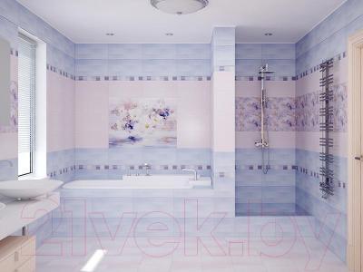 Бордюр Уралкерамика Акварель БД57АК305 (500x60.7, синий/розовый)