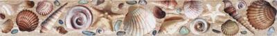 Бордюр для ванной Уралкерамика Ривьера БД53РВ004 (500x67, белый/коричневый)