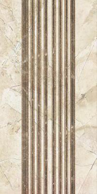 Декоративная плитка для ванной Уралкерамика Помпеи ВС9ПМ034 (249х500, белый/коричневый)
