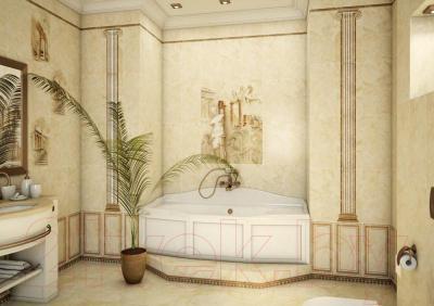 Декоративная плитка для ванной Уралкерамика Помпеи ВС9ПМ054 (249х500, белый/коричневый)
