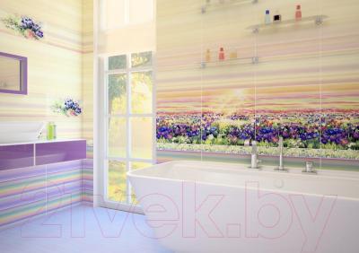 Декоративная плитка Уралкерамика Примавера ВС9ПА814 (500x249, желтый/фиолетовый)