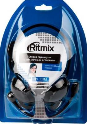 Наушники-гарнитура Ritmix RH-331M (черный)