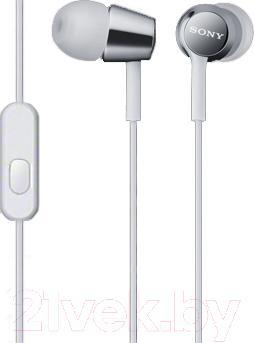 Наушники-гарнитура Sony MDR-EX150AP (белый)