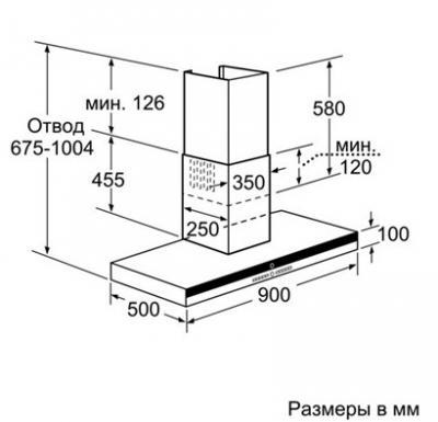 Вытяжка Т-образная Siemens LC968BA90 - схема