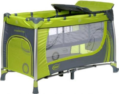 Кровать-манеж 4Baby Moderno (зеленый) - общий вид