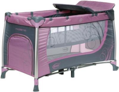Кровать-манеж 4Baby Moderno (фиолетовый) - общий вид