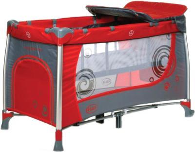 Кровать-манеж 4Baby Moderno (красный) - общий вид