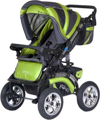Детская универсальная коляска Riko Grand (Lime) - прогулочная