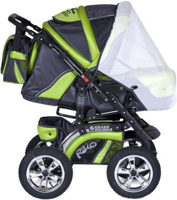 Детская универсальная коляска Riko Grand (Lime) - москитная сетка